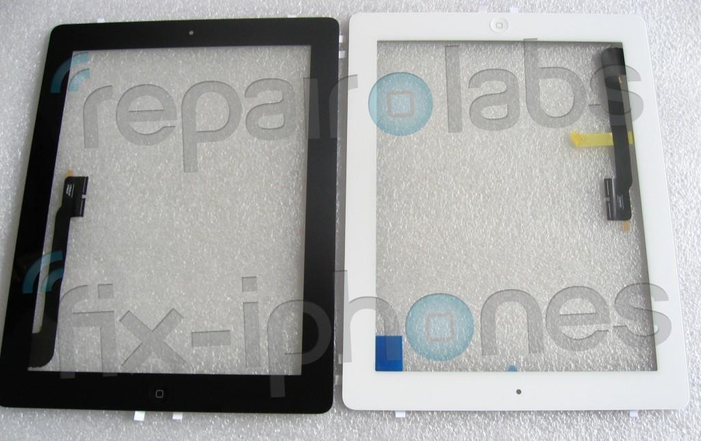 Repair Labs heeft de iPad 3 voorkant: Zwart en Wit en met Homeknop!