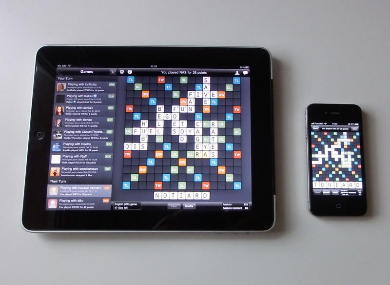 Binnenkort: Wordfeud voor iPad