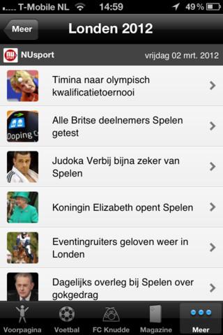 NU.nl komt met NUsport app voor iPad
