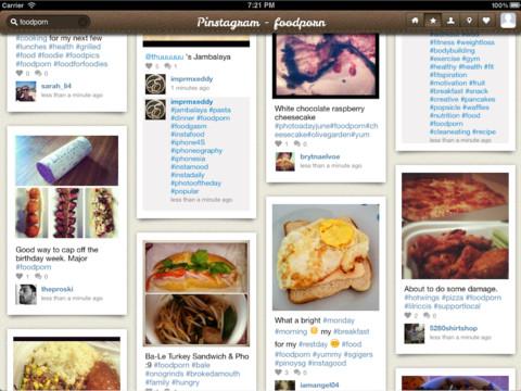 Pinstagram voor iPad eerder dan Instagram en Pinterest zelf